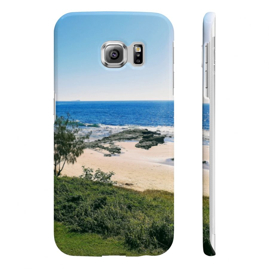 This Phone Case Mooloolaba Beach View is available to buy from the Beach Scenes online store.