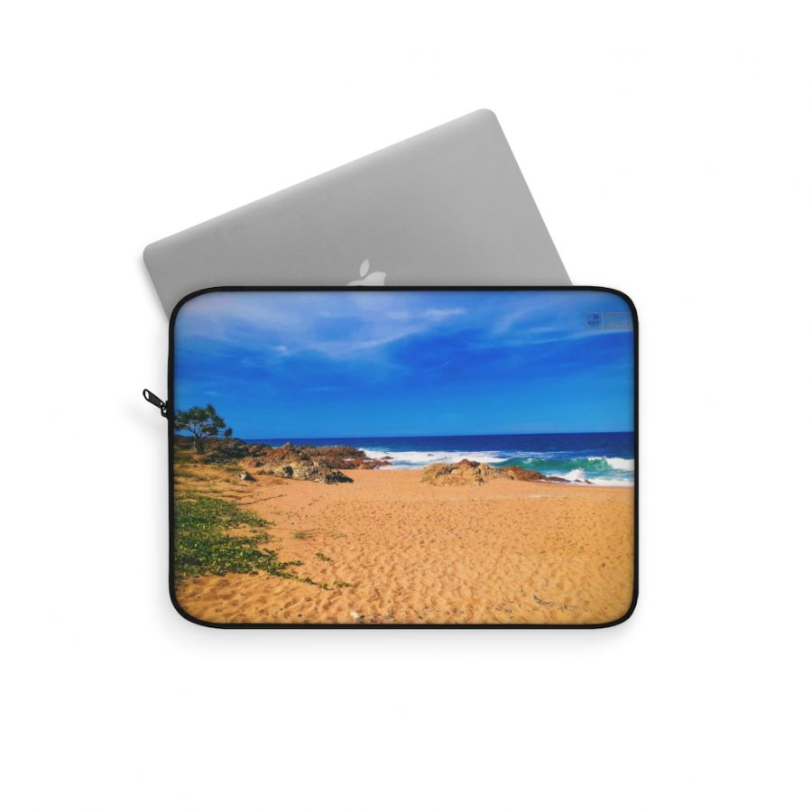 This Chinamans Beach Laptop Sleeve is available to buy from the Beach Scenes online store.