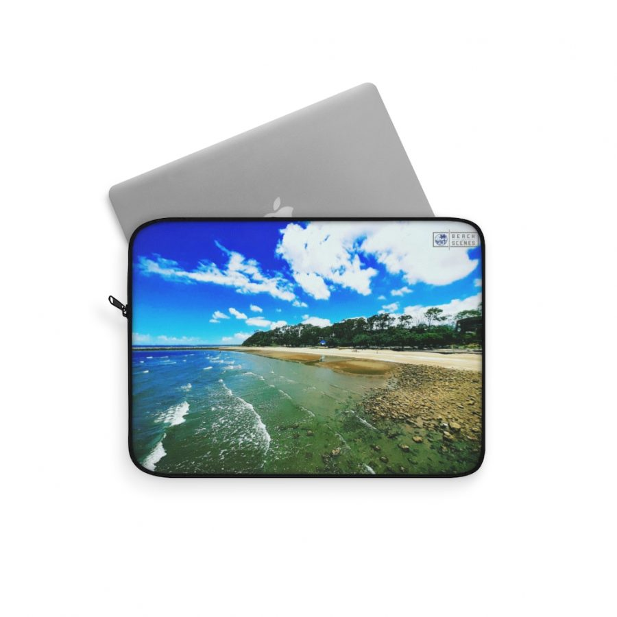 This Shorncliffe Beach Laptop Sleeve is available to buy from the Beach Scenes online store.