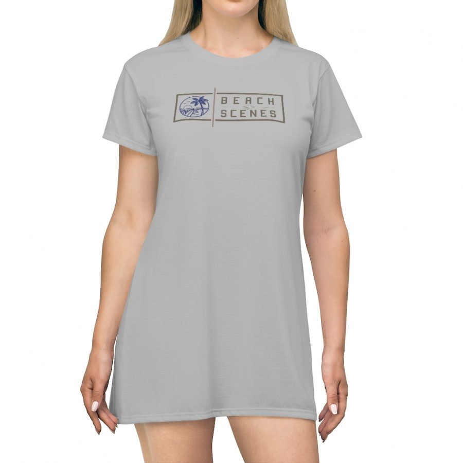 This Beach Scenes T-Shirt Dress in Philippine Silver is available to buy from the Beach Scenes online store.