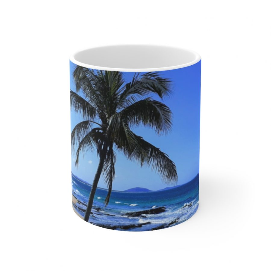 This Palm Tree at Mooloolaba Ceramic Mug is available to buy from the Beach Scenes online store.