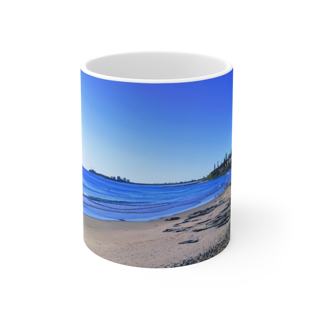 This Deep Blue Sky Beach Ceramic Mug is available to buy from the Beach Scenes online store.
