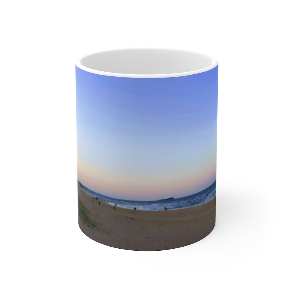 This Dickie Beach View Ceramic Mug is available to buy from the Beach Scenes online store.