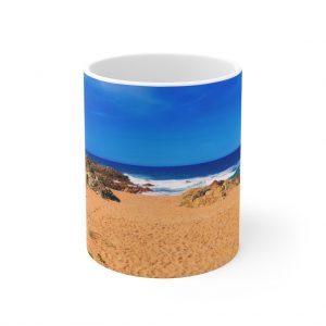 This Chinamans Beach Ceramic Mug is available to buy from the Beach Scenes online store.