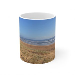 This Minimalist Beach Ceramic Mug is available to buy from the Beach Scenes online store.