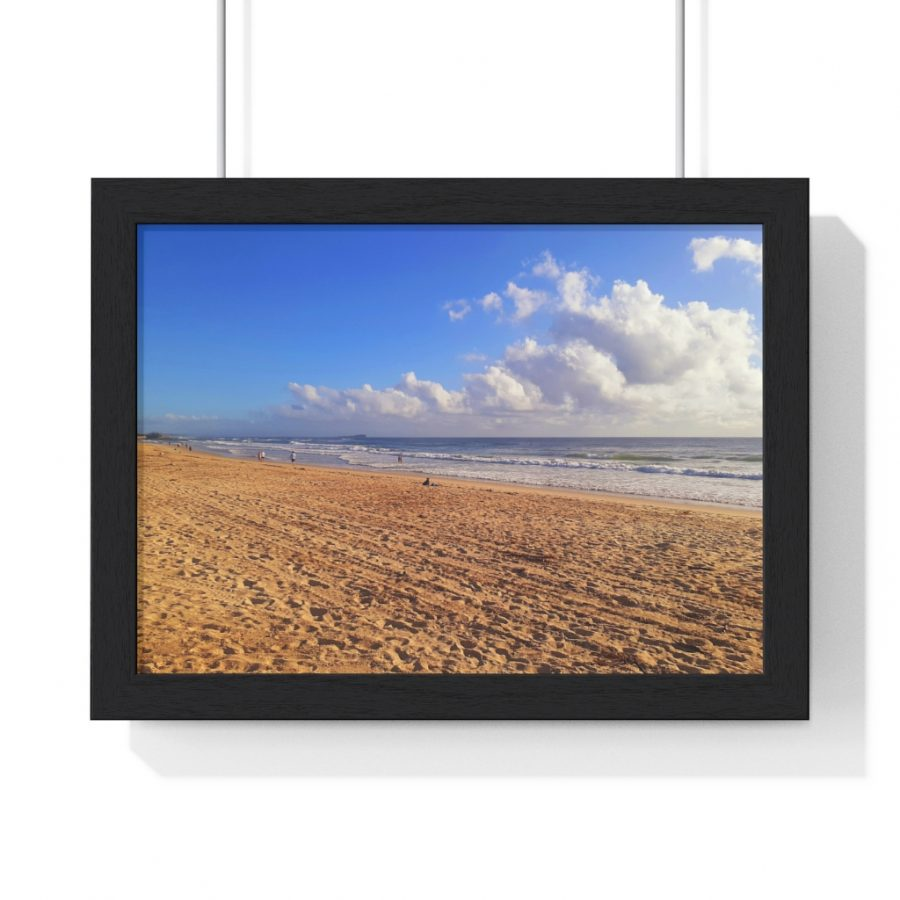 This Clouds at Cotton Tree Beach Framed Poster is available to buy from the Beach Scenes online store!
