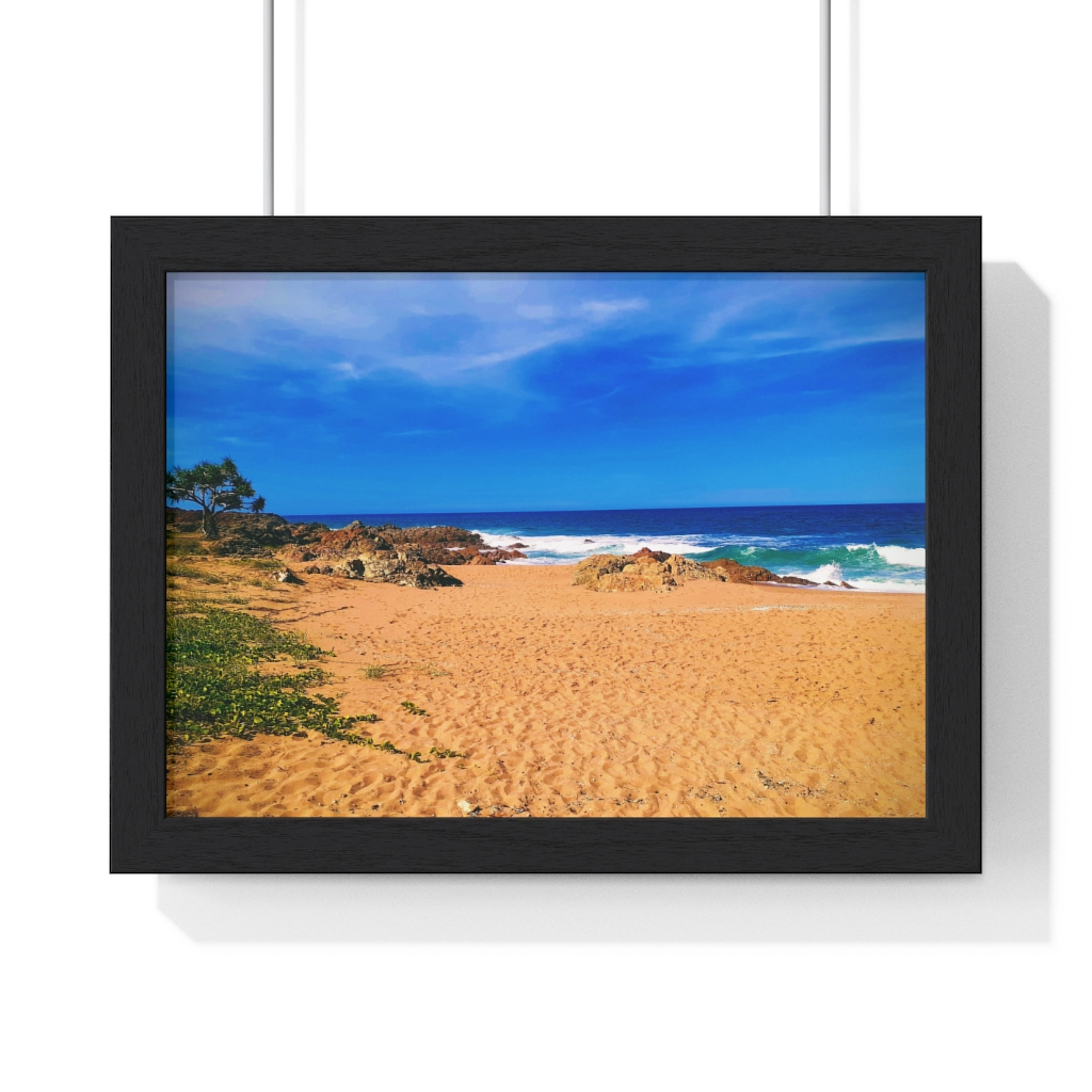 This Chinamans Beach Framed Horizontal Poster is one of many cool beach wall art pieces we have available for you to buy for your home deoor.
