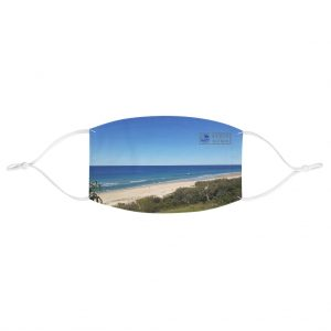 This View of Sunrise Beach Face Mask is available to buy from the Beach Scenes online store.