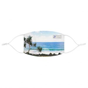 This Crashing Waves at Coolangatta Face Mask is available to buy from the Beach Scenes online store.