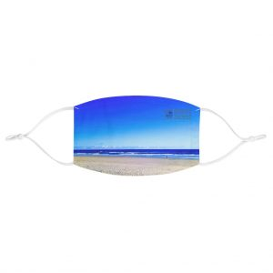 This Deep Blue Sky Beach Face Mask is available to buy from the Beach Scenes online store.