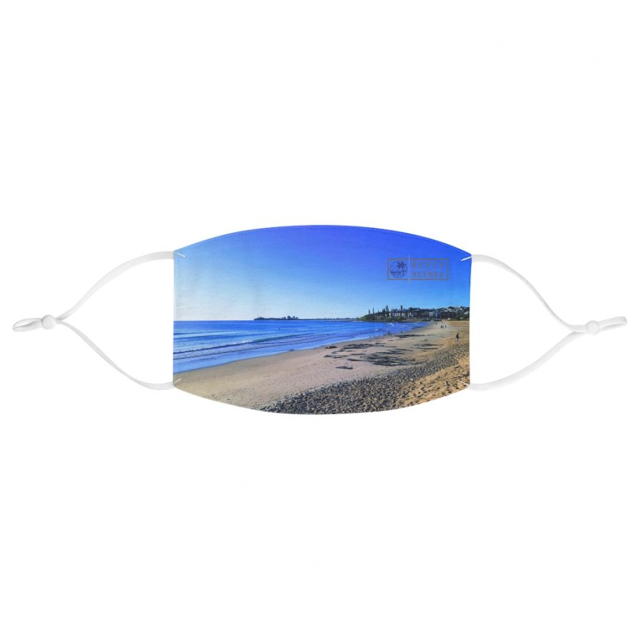 This Blue Ocean Sky at Maroochydore Face Mask is available to buy from the Beach Scenes online store.