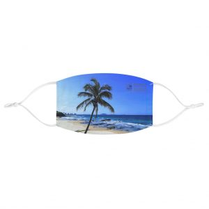 This Palm Tree at Mooloolaba Beach Face Mask is available to buy from the Beach Scenes online store.