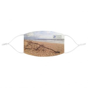 This Driftwood at the Beach Face Mask is available to buy from the Beach Scenes online store.