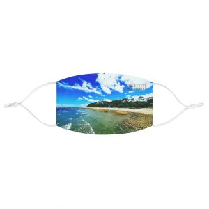This Shorncliffe Beach Face Mask is available to buy from the Beach Scenes online store.