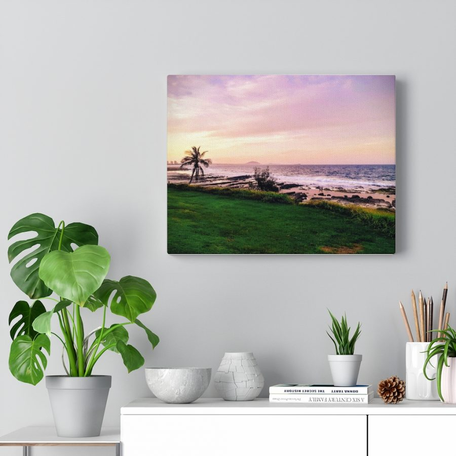This Mooloolaba Beach Sunset Canvas is one of many cool beach wall art pieces we have available for you to buy for your home decor.