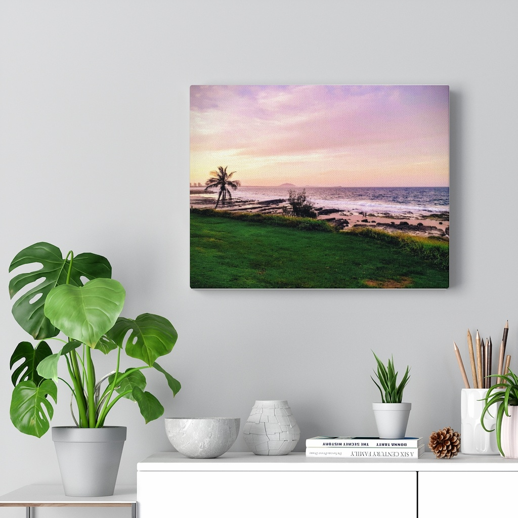 This Mooloolaba Beach Sunset Canvas is one of many cool beach wall art pieces we have available for you to buy for your home deoor.