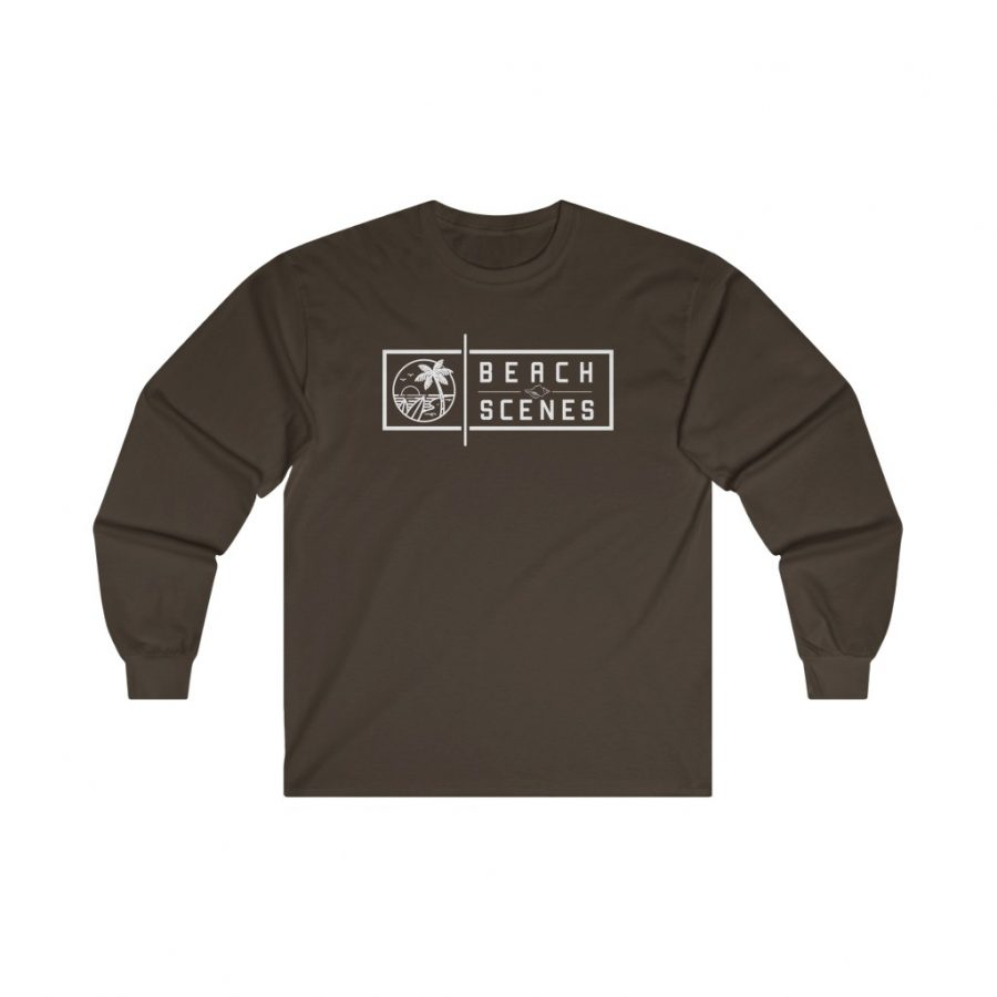 This Ultra Cotton Long Sleeve Mens Tee Ultra Cotton Long Sleeve Mens Tee White Logo is available to buy from Beach Scenes online store.