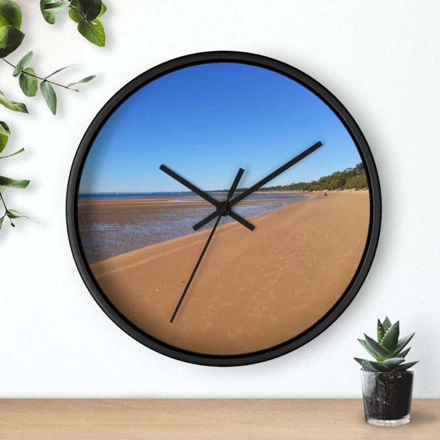This Hervey Bay Wall Clock is available to buy from the Beach Scenes online store.