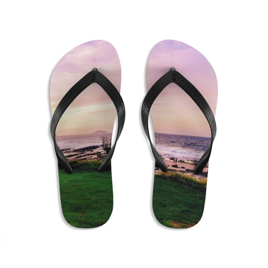 This Mooloolaba Beach Sunset Flip-Flops is available to buy from Beach Scenes online store.