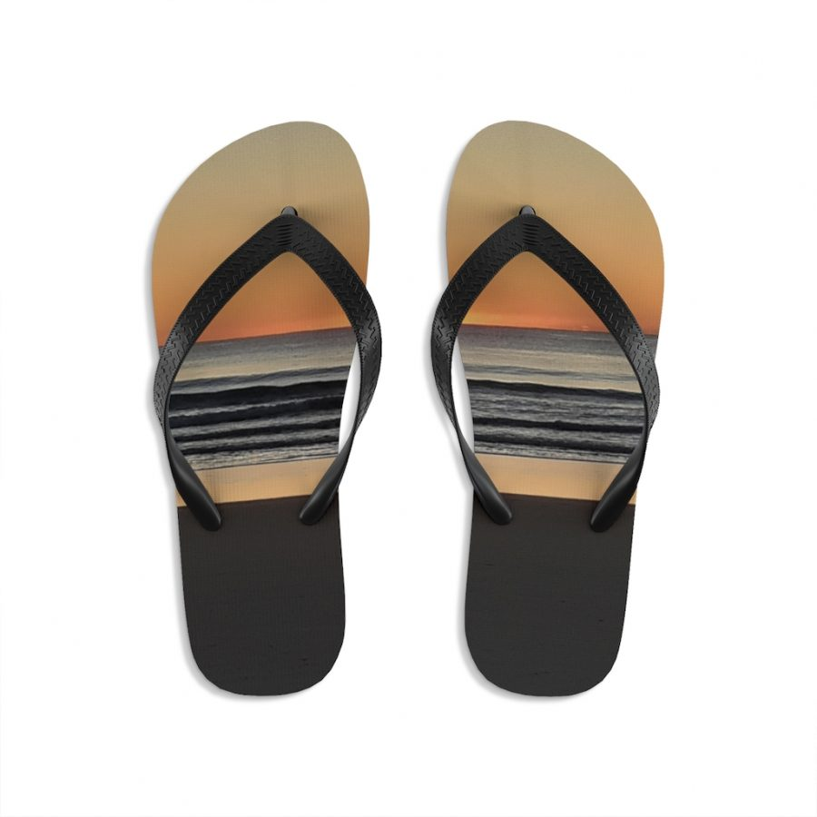 This Golden Sunrise Colours Flip-Flops is available to buy from Beach Scenes online store.