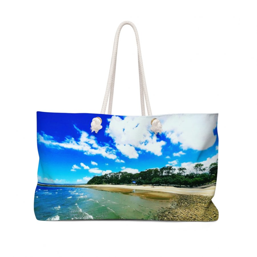 Weekender Bag Shorncliffe Beach Scene is available to buy from the Beach Scenes online store.