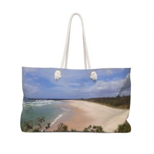 This Weekender Bag Ballina Beach is available to buy from the Beach Scenes online store.
