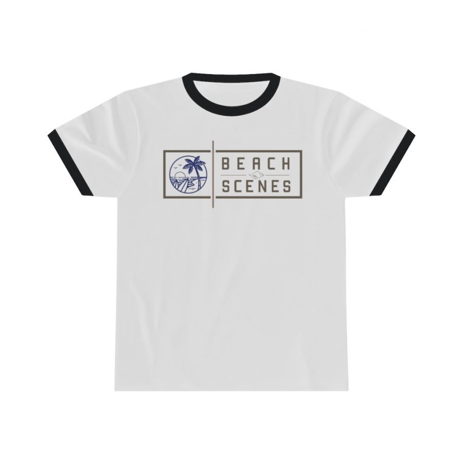 This womens Beach Scenes Ringer Tee is available to buy from the Beach Scenes online store!