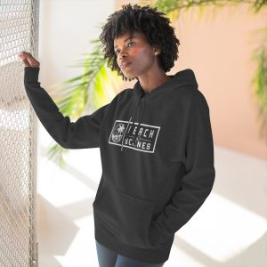 This Premium Womens Pullover Hoodie White Logo is available to buy from Beach Scenes online store.