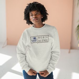 This Premium Crewneck Womens Sweatshirt is available to buy from Beach Scenes online store.