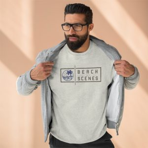 This Premium Crewneck Mens Sweatshirt is available to buy from Beach Scenes online store.