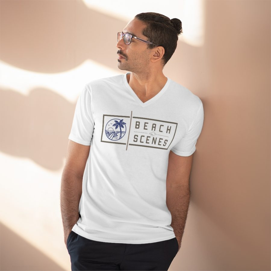 This Lightweight V-Neck Mens Tee is available to buy from Beach Scenes online store.