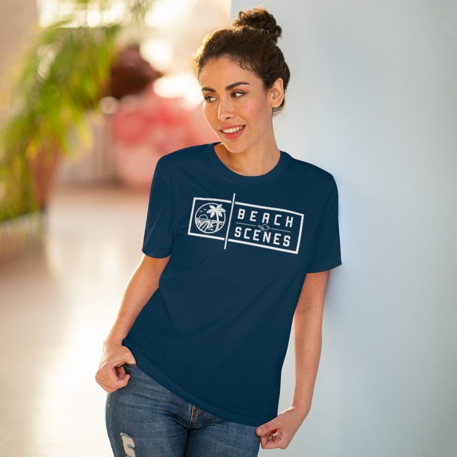 This Organic Creator Womens Tshirt White Logo is available to buy from Beach Scenes online store.