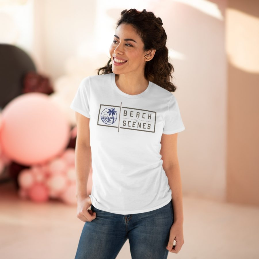 This Premium Cotton Womens Tee is available to buy from Beach Scenes online store.