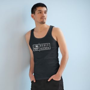 This Specter Beach Scenes Mens Tank Top White Logo is available to buy from Beach Scenes online store.