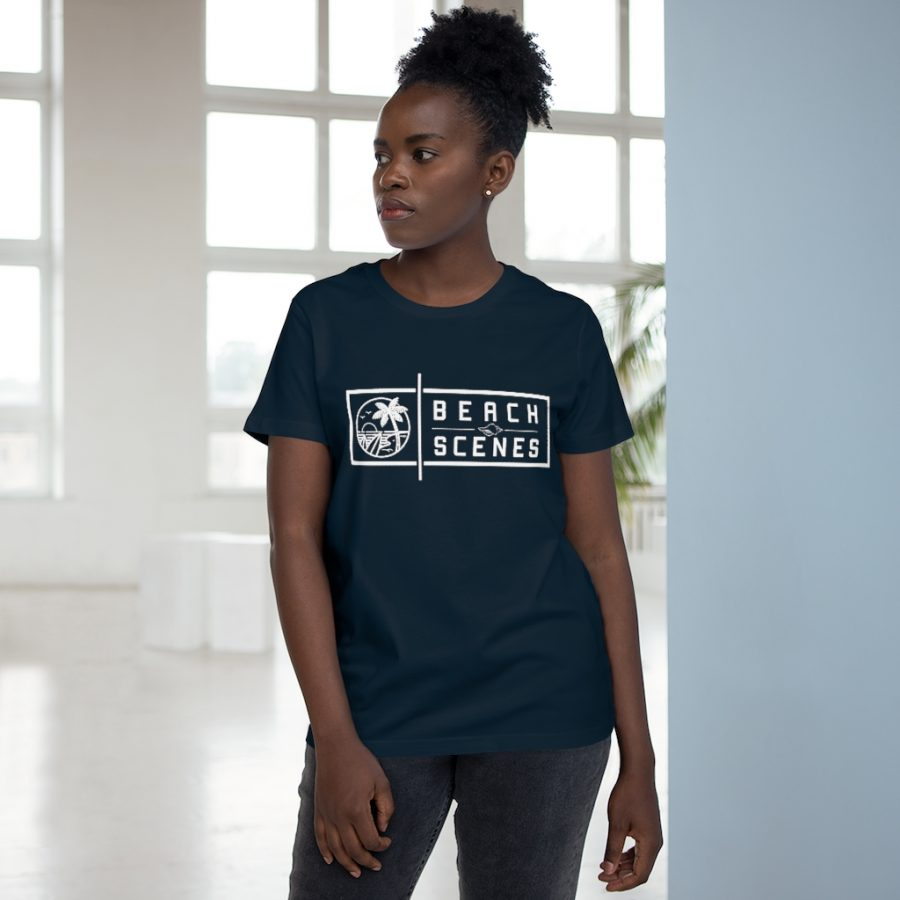 This Maple Womens Tee White Logo is available to buy from Beach Scenes online store.