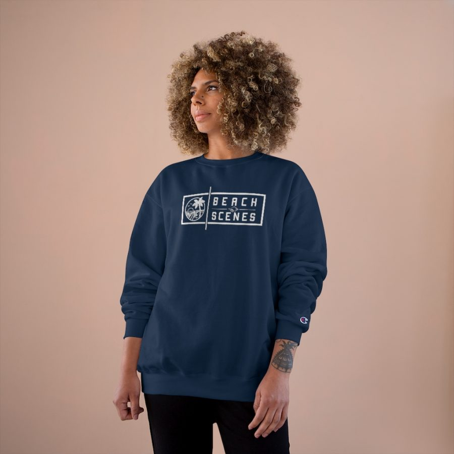 This Champion Womens Sweatshirt White Logo is available to buy from Beach Scenes online store.