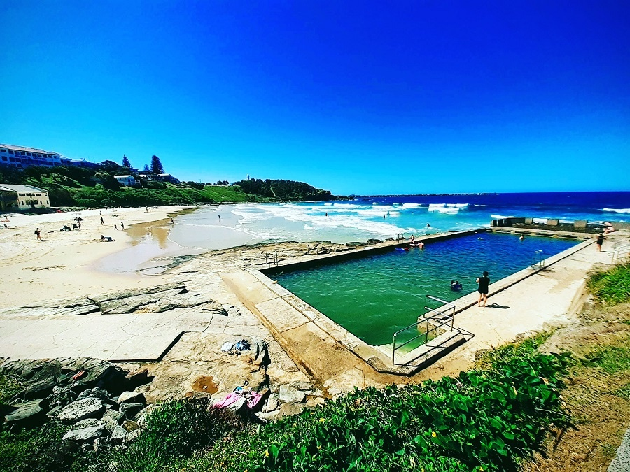 The ocean pool at Yamba Beach in New South Wales, Australia