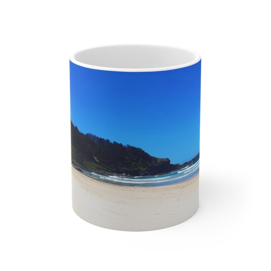 This Yamba Beach Ceramic Mug is available to buy from the Beach Scenes online store.