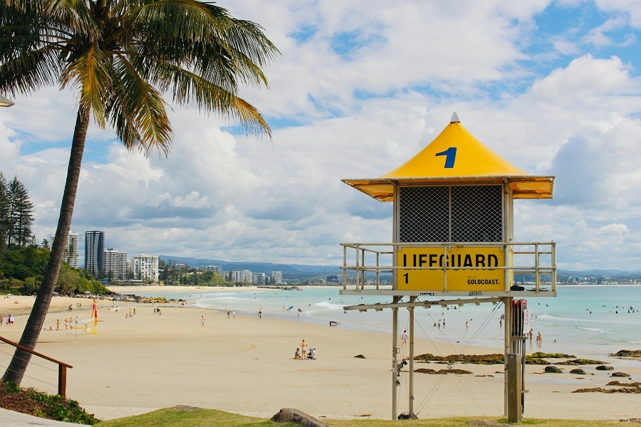 Rainbow Bay on the Gold Coast in Queensland
