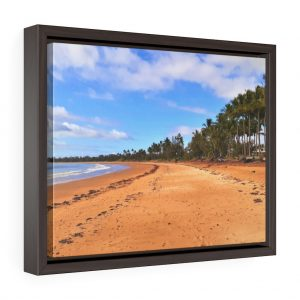 This Sarina Beach Framed Canvas is available to buy at Beach Scenes online store.