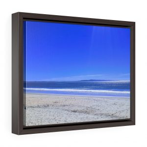 This Blue Sky Shades at Laguna Beach Framed Canvas is available to buy from Beach Scenes with worldwide shipping.