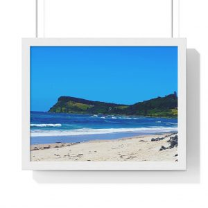 This Lennox Head Framed Horizontal Poster is available to buy from Beach Scenes online store with worldwide shipping.