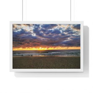 You can buy this Storm Clouds over Beach Framed Horizontal Poster at Beach Scenes online store with worldwide shipping.