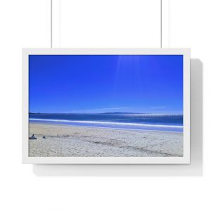 This Blue Sky Shades at Laguna Beach Framed Horizontal Poster is available to buy from Beach Scenes online store with worldwide shipping.