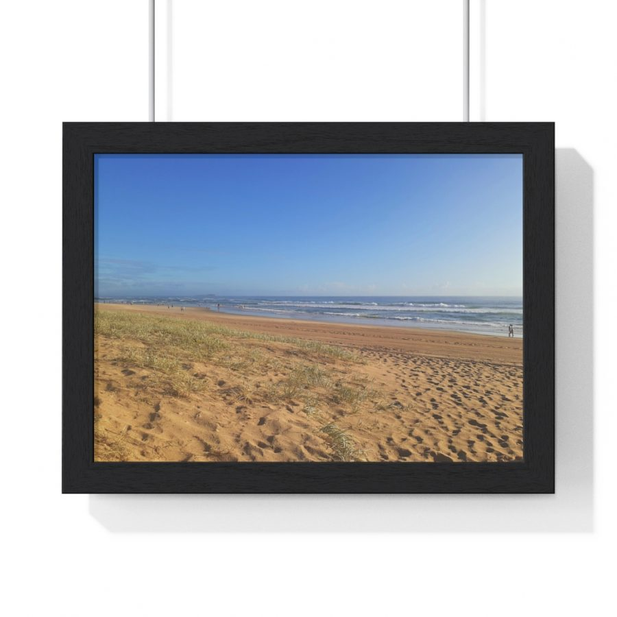 This Minimalist Beach Framed Horizontal Poster is available to buy from Beach Scenes online store.