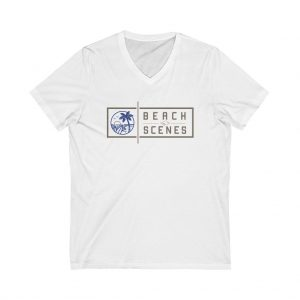 This Jersey Short Sleeve V-Neck Womens Tee is available to buy from Beach Scenes online store.