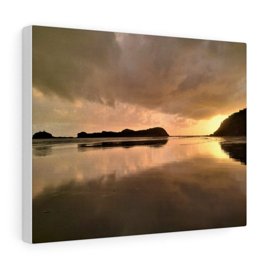 You can buy this Sunrise at Cape Hillsborough Beach Canvas at Beach Scenes online store.
