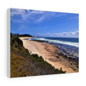 You can buy this Shelley Beach at Ballina Canvas at Beach Scenes online store.