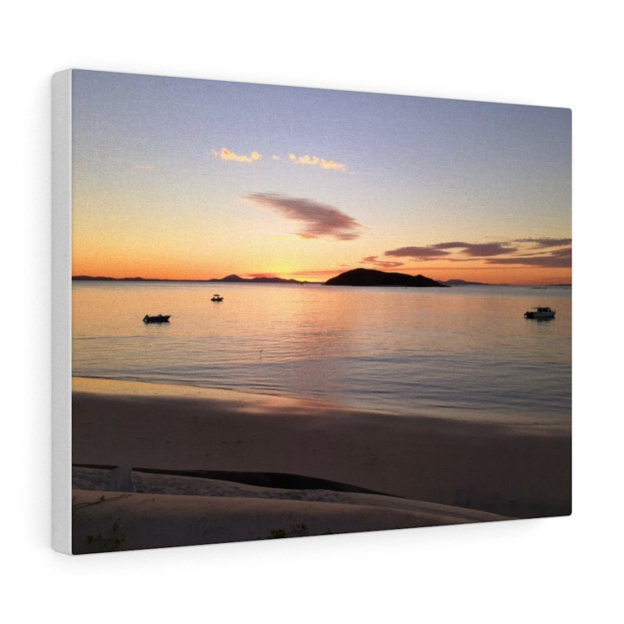 You can buy this Evening Colours at Great Keppel Canvas at Beach Scenes online store.