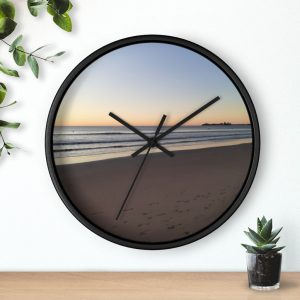 This Alex Headlands Beach Sunrise Wall Clock is available to buy from Beach Scenes online store.